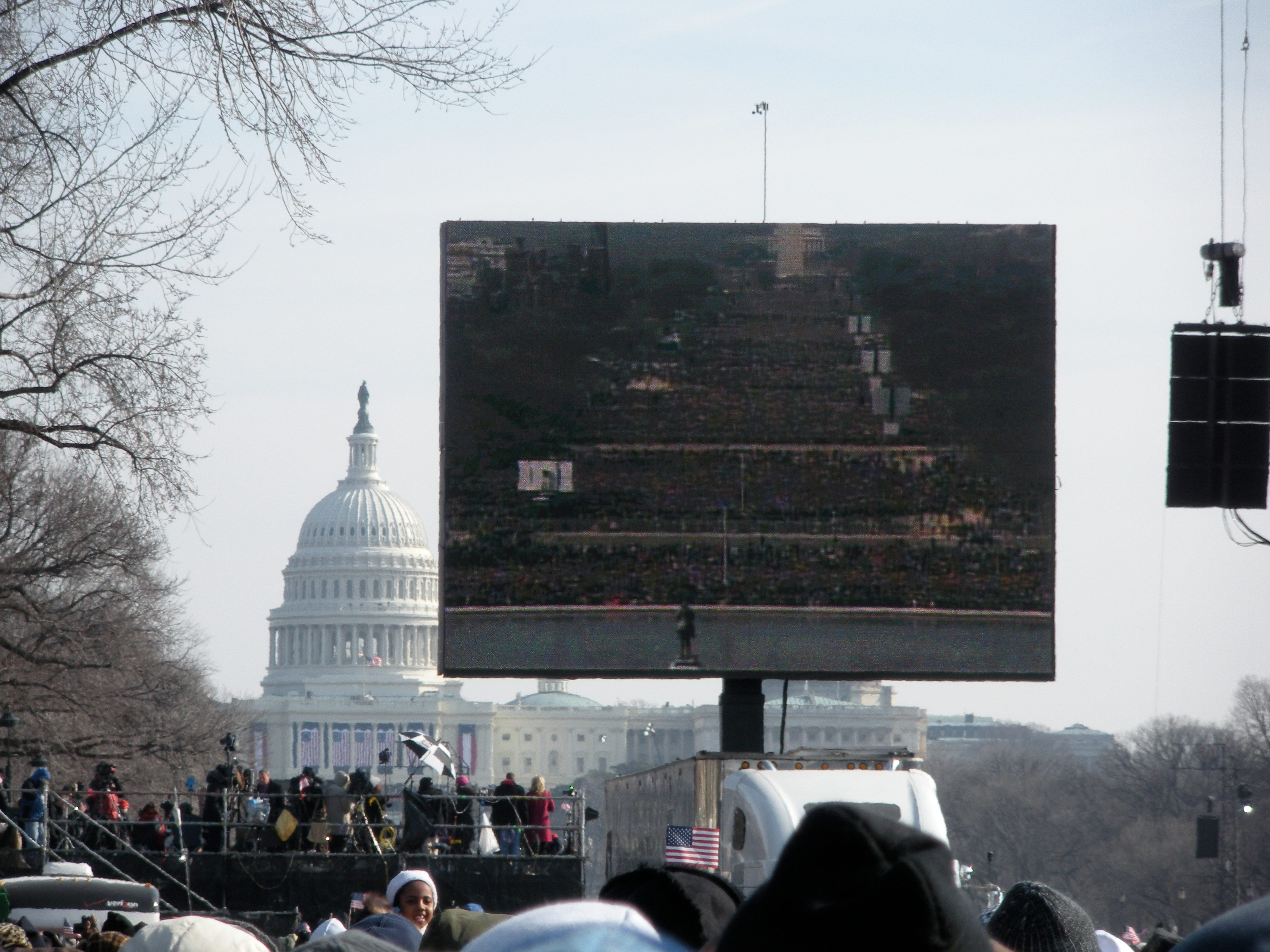 obama inauguration jumbotron