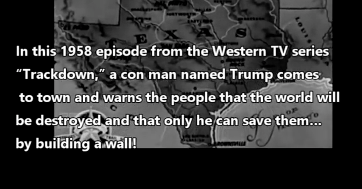 Did a 1950s TV Episode Feature a Character Named Trump Who Offered