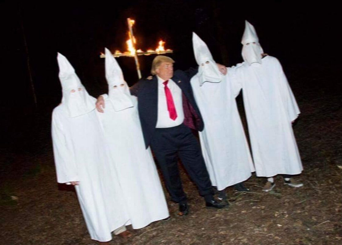 FACT CHECK: Does This Photograph Show Donald Trump at a KKK Cross ...
