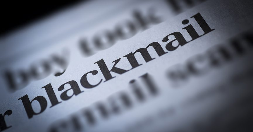 """The word """"blackmail"""" in focus"""