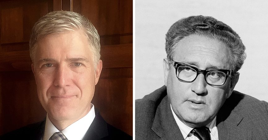 Did Neil Gorsuch Quote Henry Kissinger In His Yearbook Entry