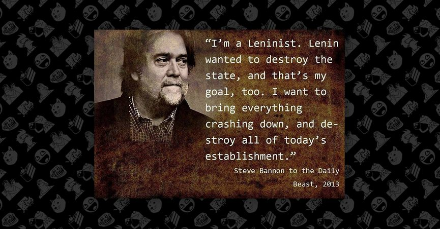 Image result for steve bannon quote on destruction