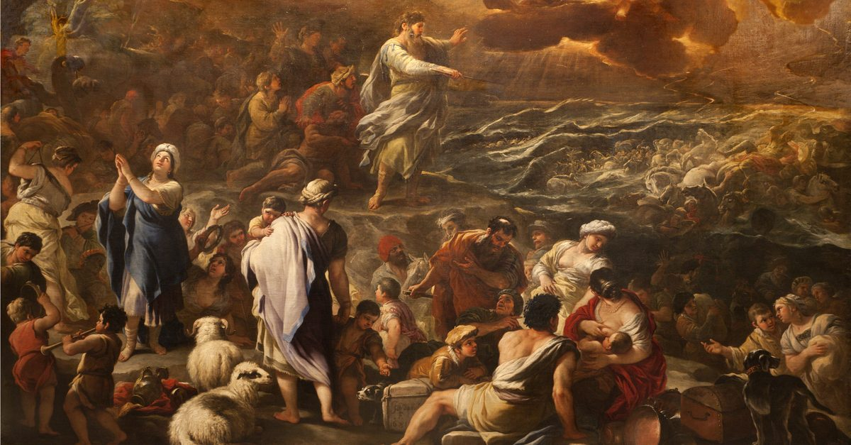 Red sea crossing hoax