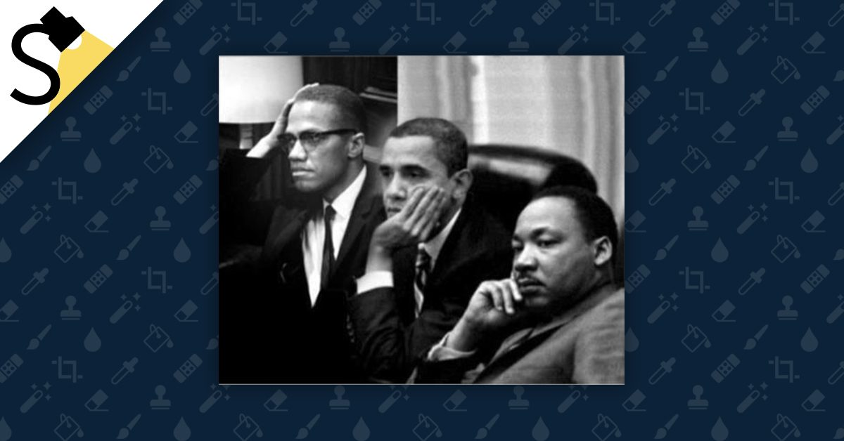 Fact Check Did Barack Obama Meet With Malcolm X And Martin Luther