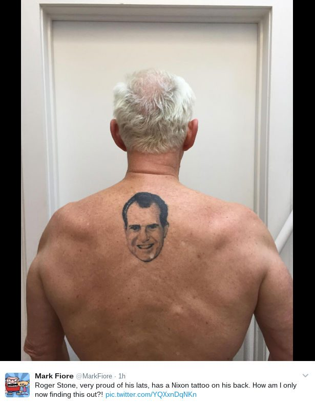 Robert Stones Fun With Problems >> Fact Check Does Roger Stone Have A Tattoo Of Richard Nixon On His Back