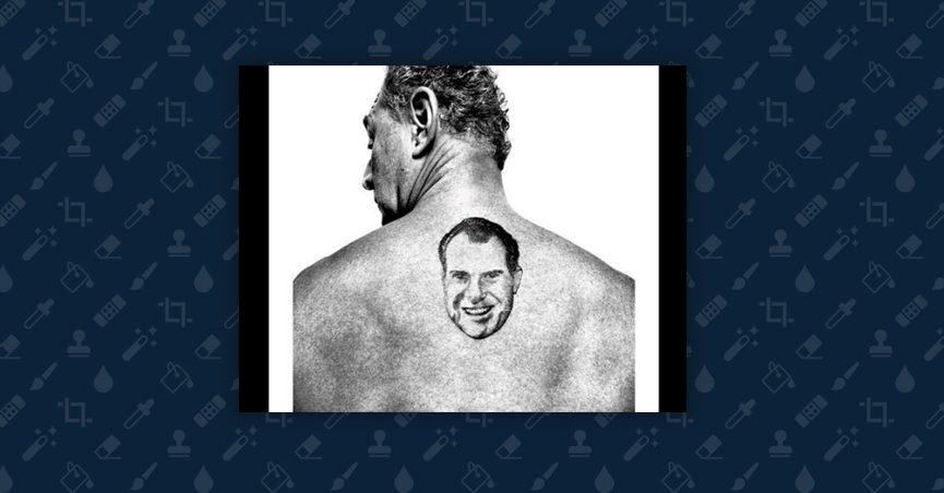 050342dc7205f A photograph seemingly shows American political consultant and conspiracy  theory spreader Roger Stone with an unusual tattoo on his back.