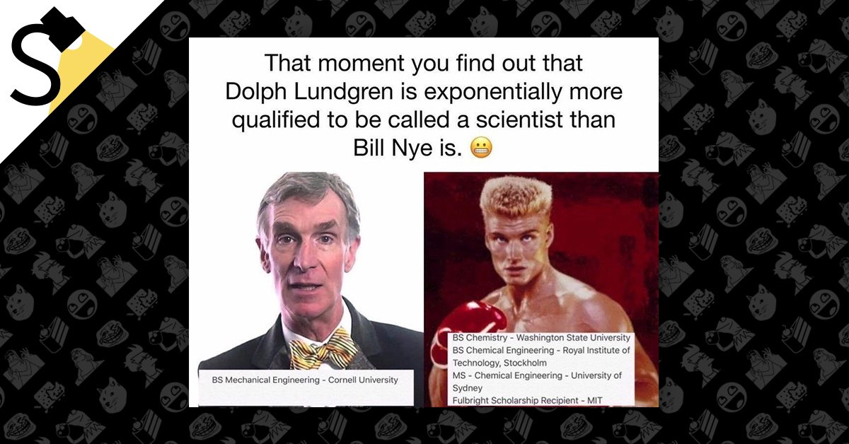 fact check does dolph lundgren have multiple scientific degrees