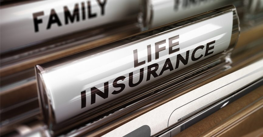 """Close-up of files labelled: """"Life Insurance."""""""