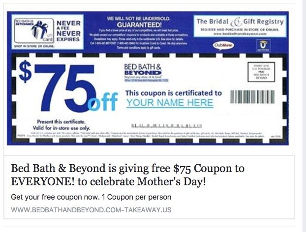Fact Check 75 Bed Bath Beyond Coupon