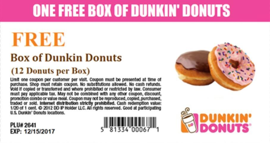photograph regarding Dunkin Donuts Coupons Printable known as Truth Verify: Dunkin Donuts Fb Coupon