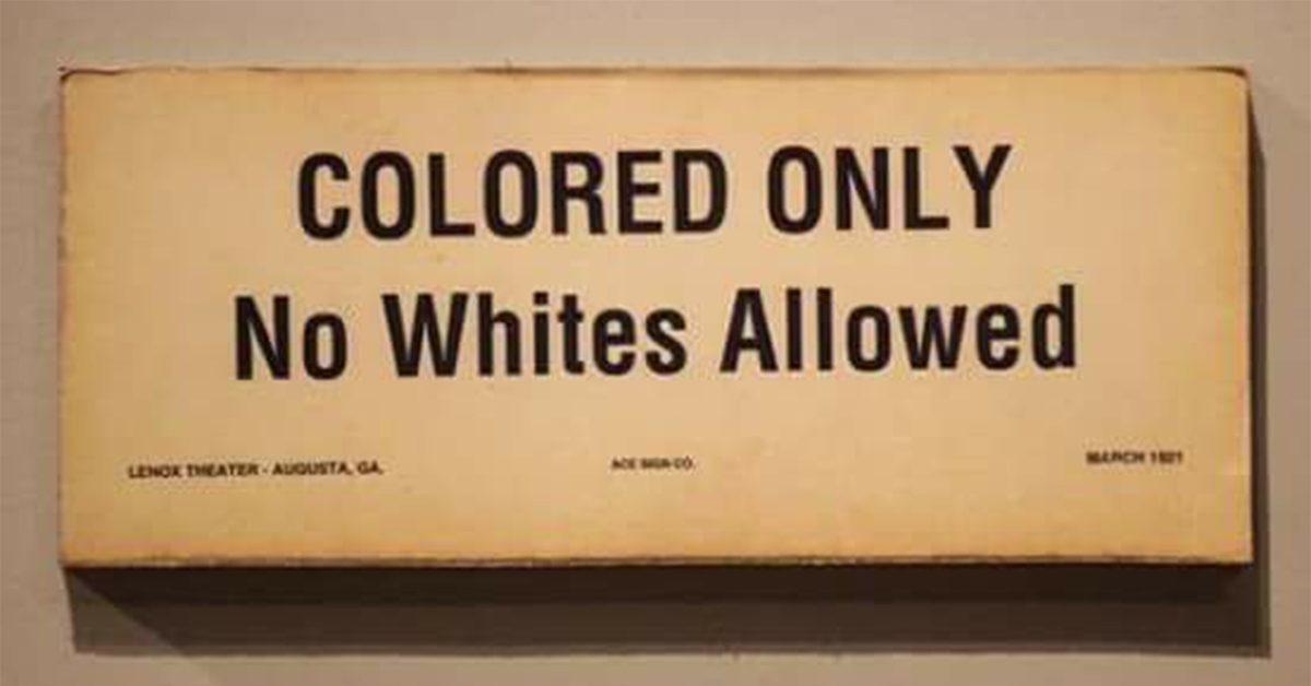 fact check did no whites allowed signs exist in the