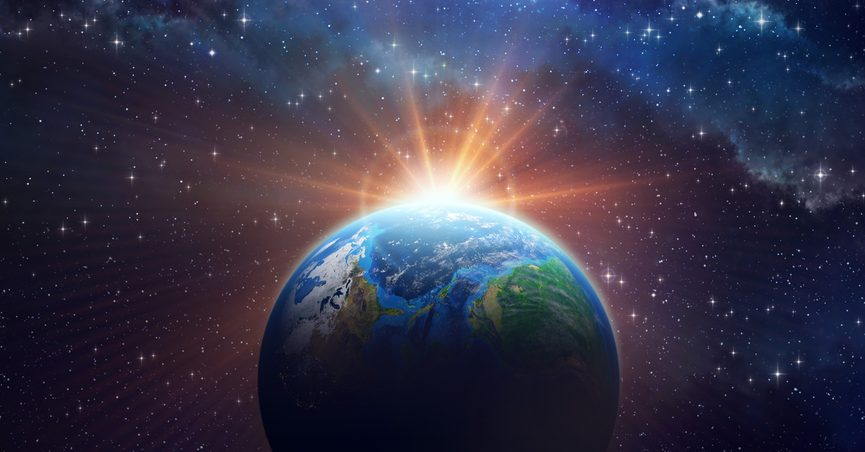 Illustration of earth in space