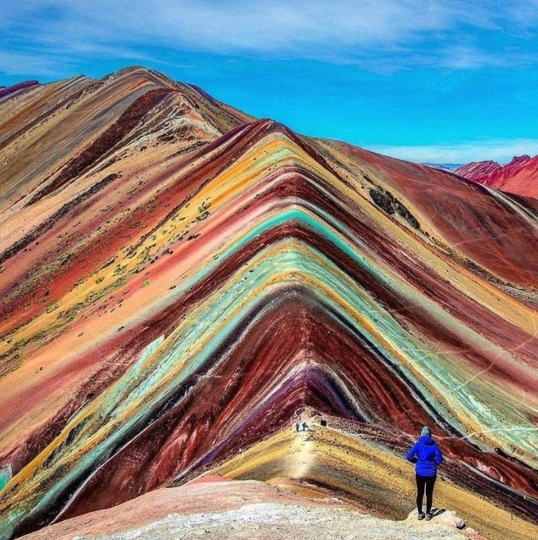 This Photograph Does Show A Real Location In Peru However Mountain Range Is Not Officially Called The Rainbow Mountains And Colors Image
