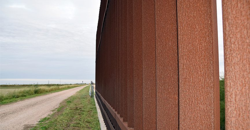 A section of the U.S.-Mexico border wall in Donna, Texas