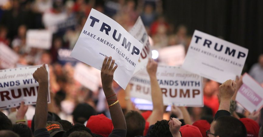 Trump supporters at campaign event