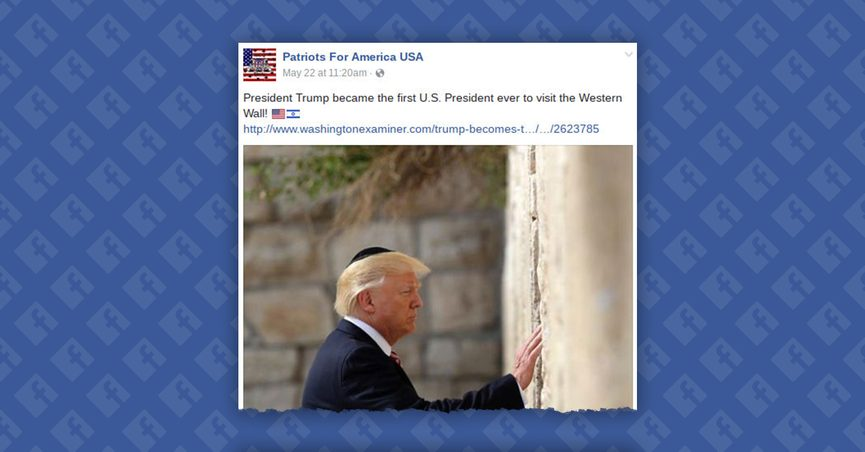 First Sitting President To Visit >> Was Trump The First U S President To Visit The Western Wall