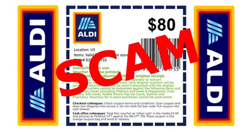 ALDI Coupons Facebook Scam