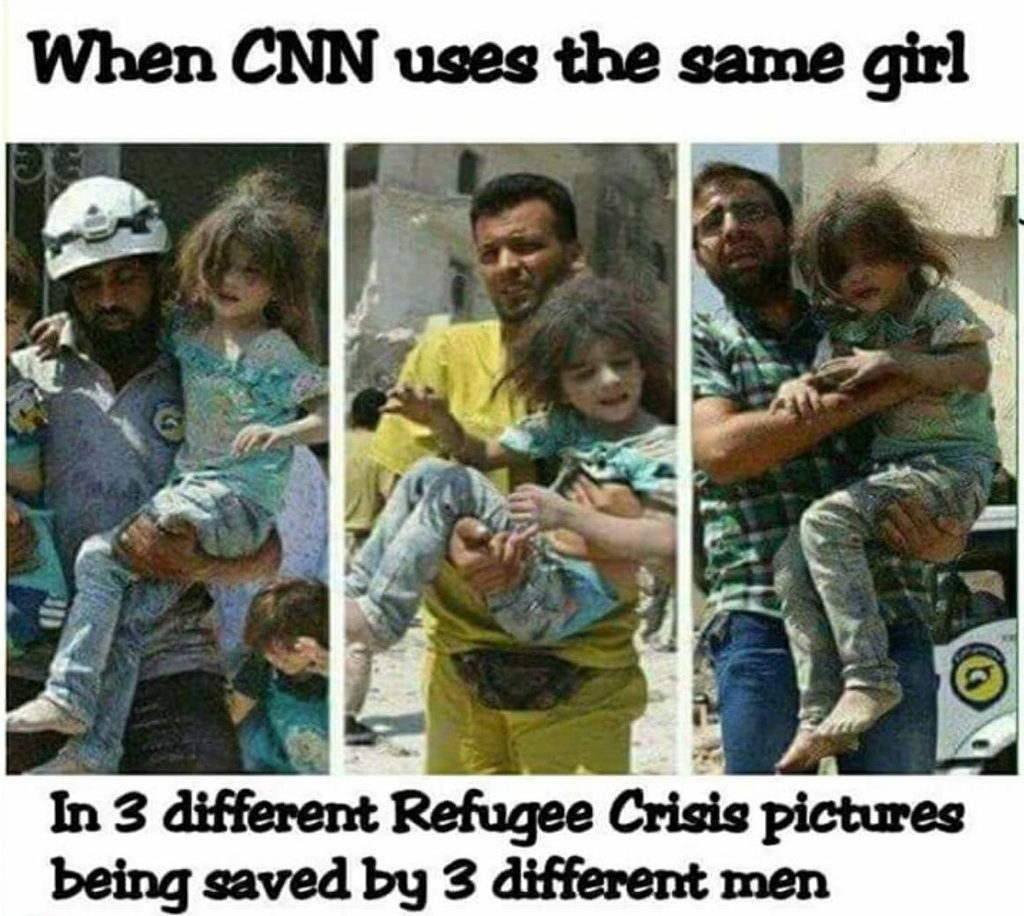 Did CNN Use the Same Girl in Three Different Refugee Crisis Pictures?