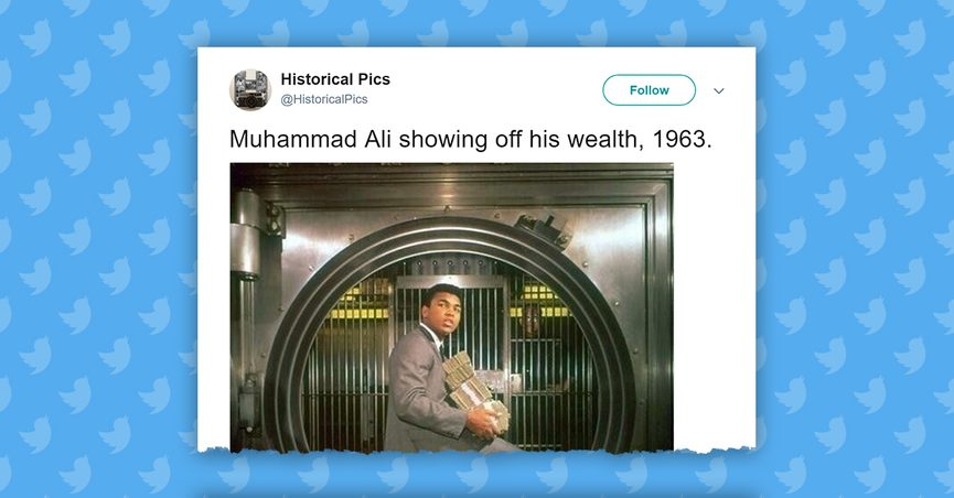 FACT CHECK: Is This Muhammad Ali with All of His Winnings in