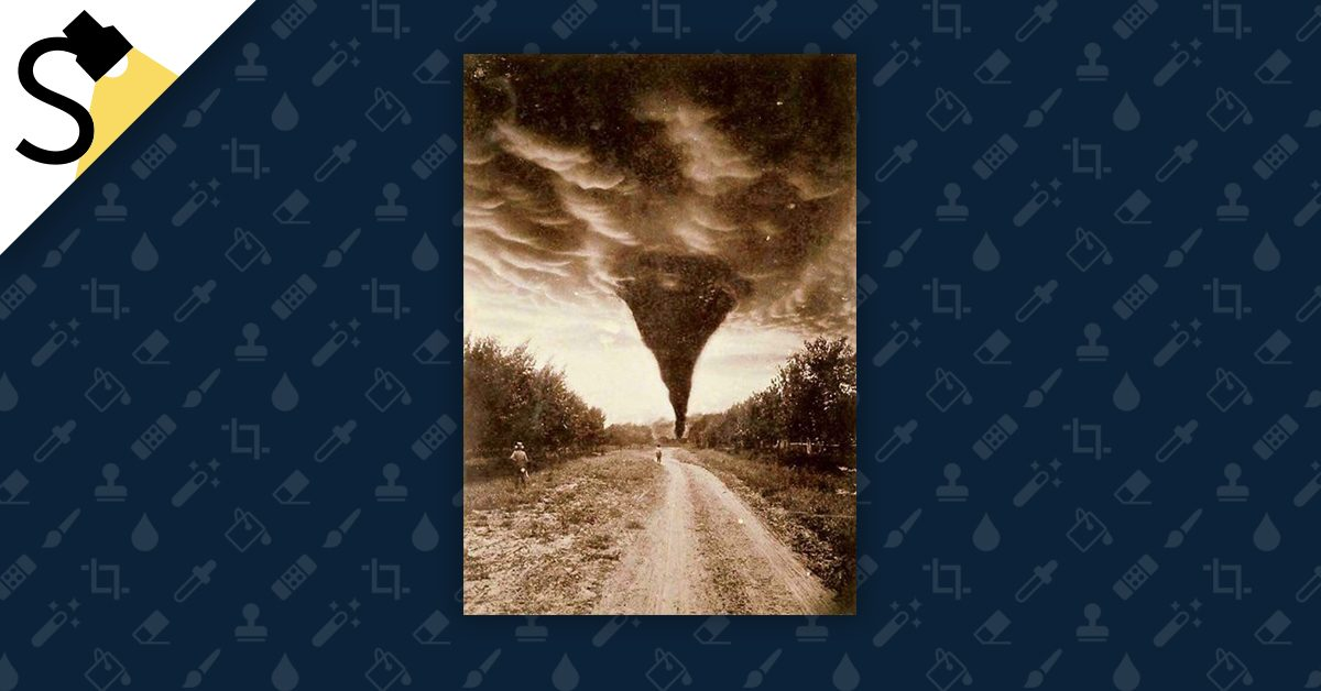 1884 Old Tornado Photo 1800/'s North Dakota- Photo Reproduction