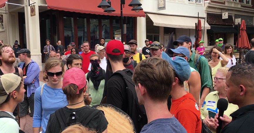 Crowd at Charlottesville rally