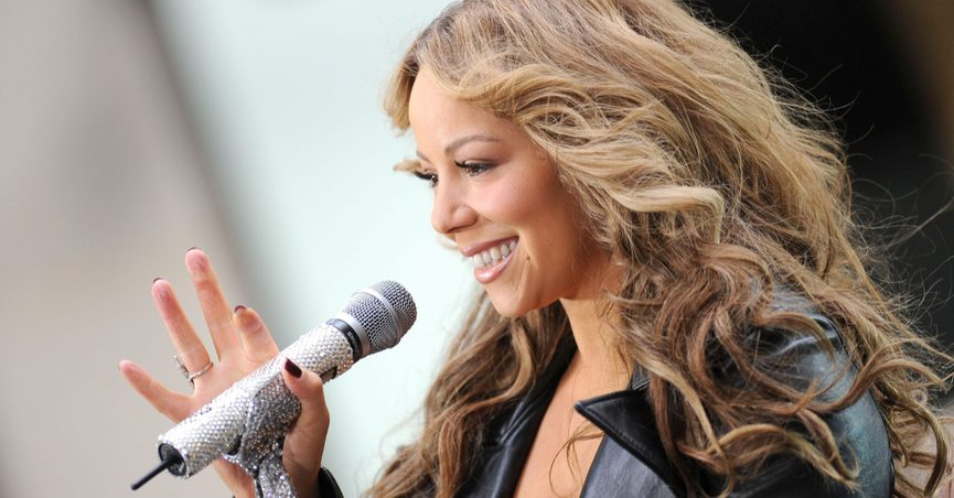Mariah Carey on stage for NBC Today Show Concert with Mariah Carey, Rockefeller Plaza, New York, NY October 2, 2009