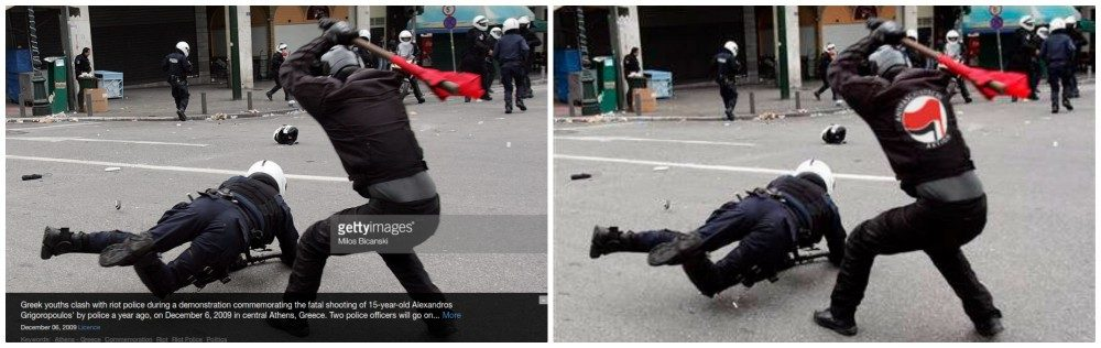 FACT CHECK: Antifa Member Photographed Beating Police Officer?
