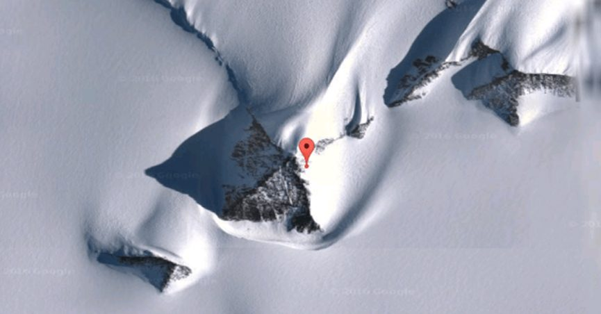 Pyramid-shaped mountains in Antarctica