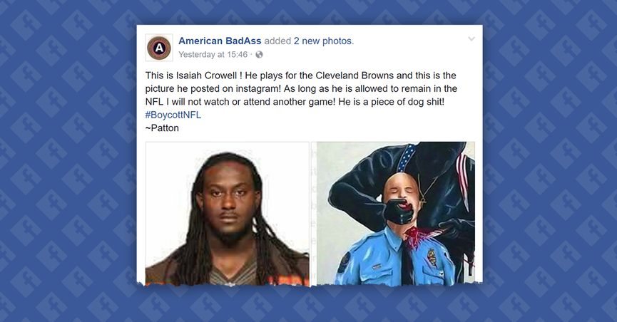 save off f90d0 ec674 FACT CHECK: Did NFL Player Isaiah Crowell Post an Image of a ...