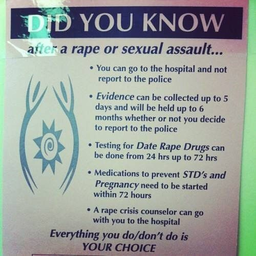 rape guidelines sexual assault