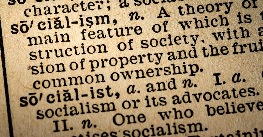 """Text of dictionary definition of """"socialism"""""""