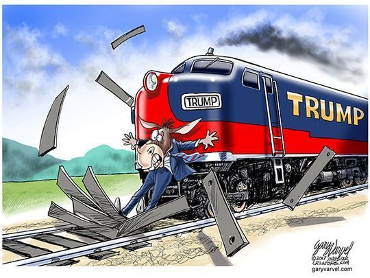 FACT CHECK: Did Trump Retweet Cartoon of Train Hitting CNN