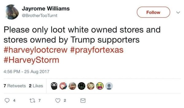 Please only loot white owned stores