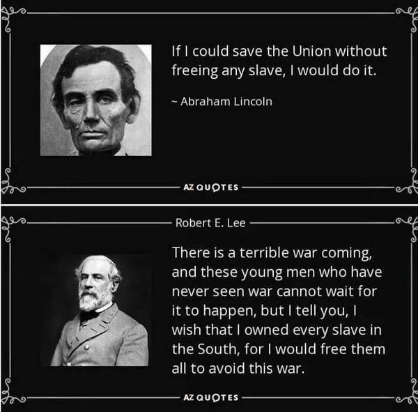 Fact Check Lincoln And Lees Views On Slavery