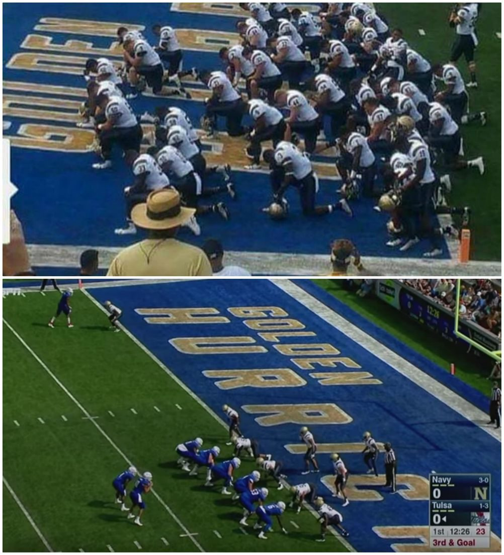 Fact Check Did Army Football Team Kneel In Protest During The