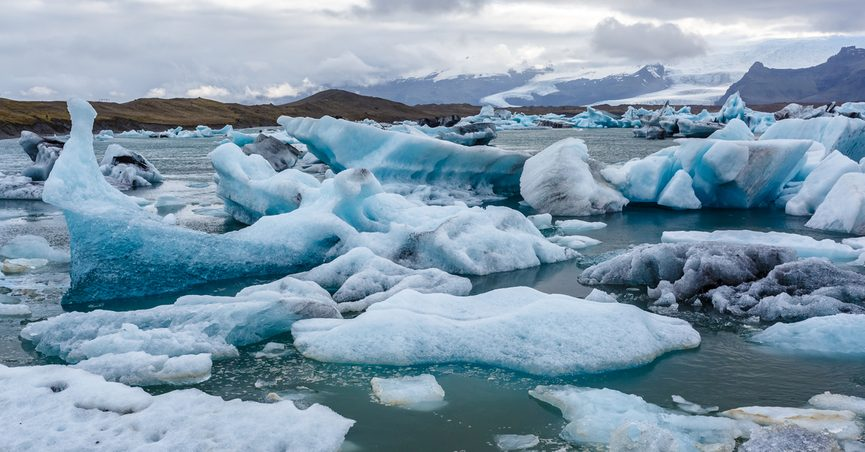 Ice floes in an ocean