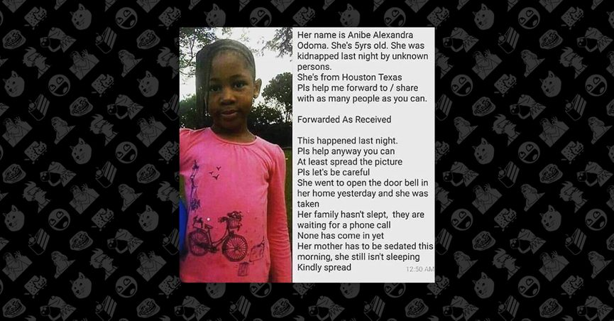 Fact Check Was Anibe Alexandra Odoma Kidnapped In Houston