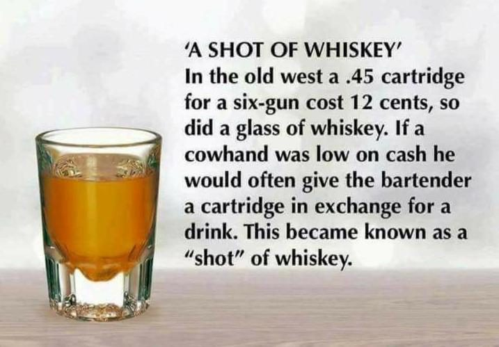 Fact Check Did The Phrase A Shot Of Whiskey Originate In The Old