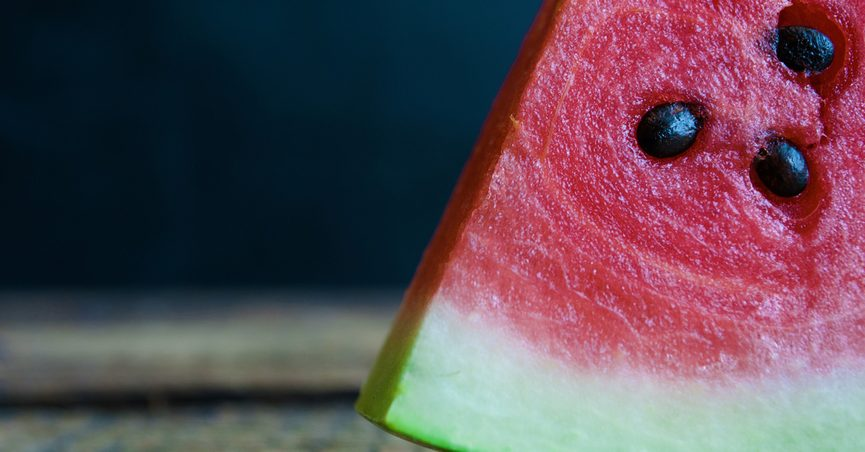 Slice of watermelon on a table