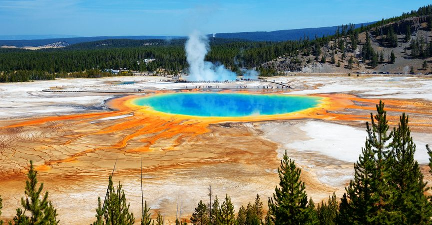 Grand Prismatic Springs at Yellowstone National Park