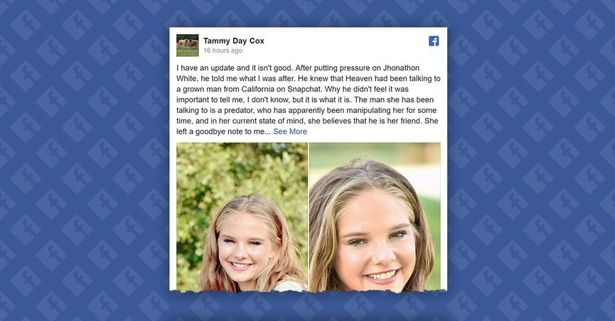FACT CHECK: Is a Girl Named Heaven Ray Cox Missing From Her Texas Home?