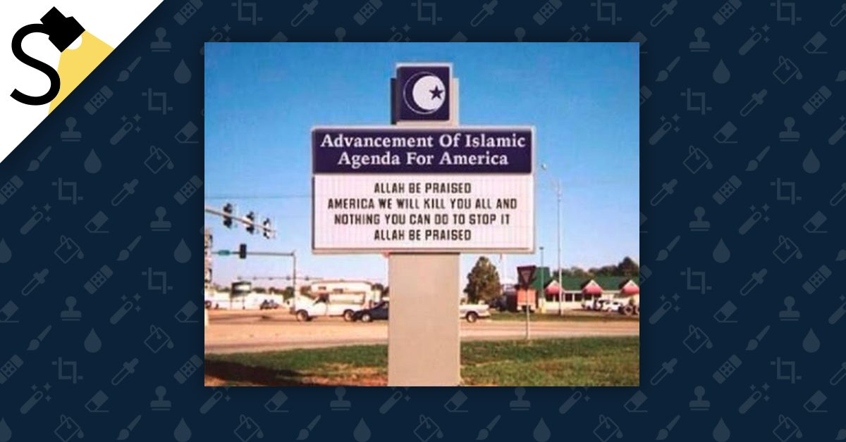 39 advancement of islamic agenda for america 39 sign for The sign