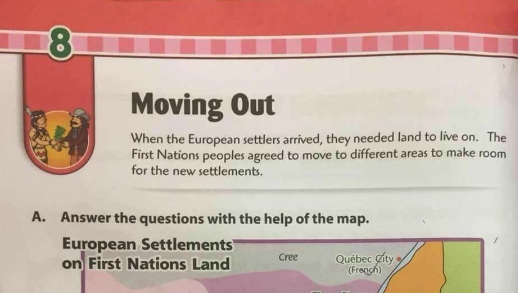 Did a Children's Textbook Say Canada's First Nations 'Moved