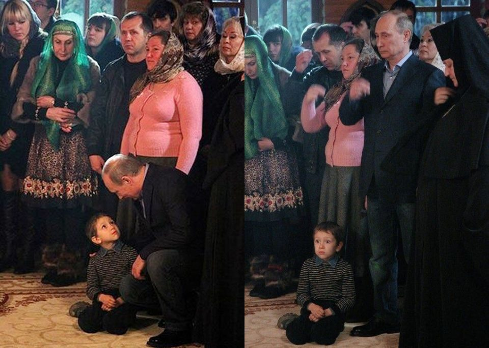 Putin Pictured Taking A Lollipop From A Child