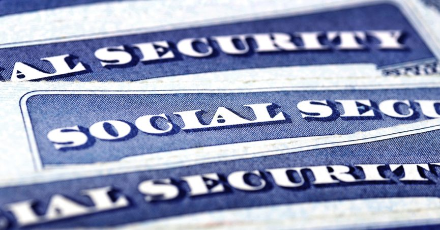 Close up of Social Security cards
