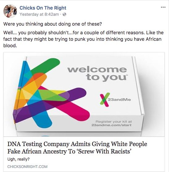 DNA companies screw with racists