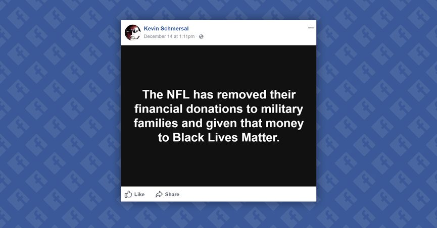842e0f7ec Did the NFL Stop Donations to Breast Cancer and Military Charities in Order  to Fund Black Lives Matter