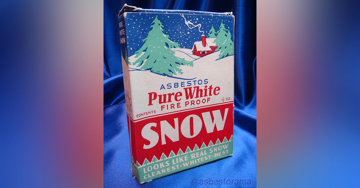 Fact Check Was Fake Snow Made From Asbestos Marketed As Christmas