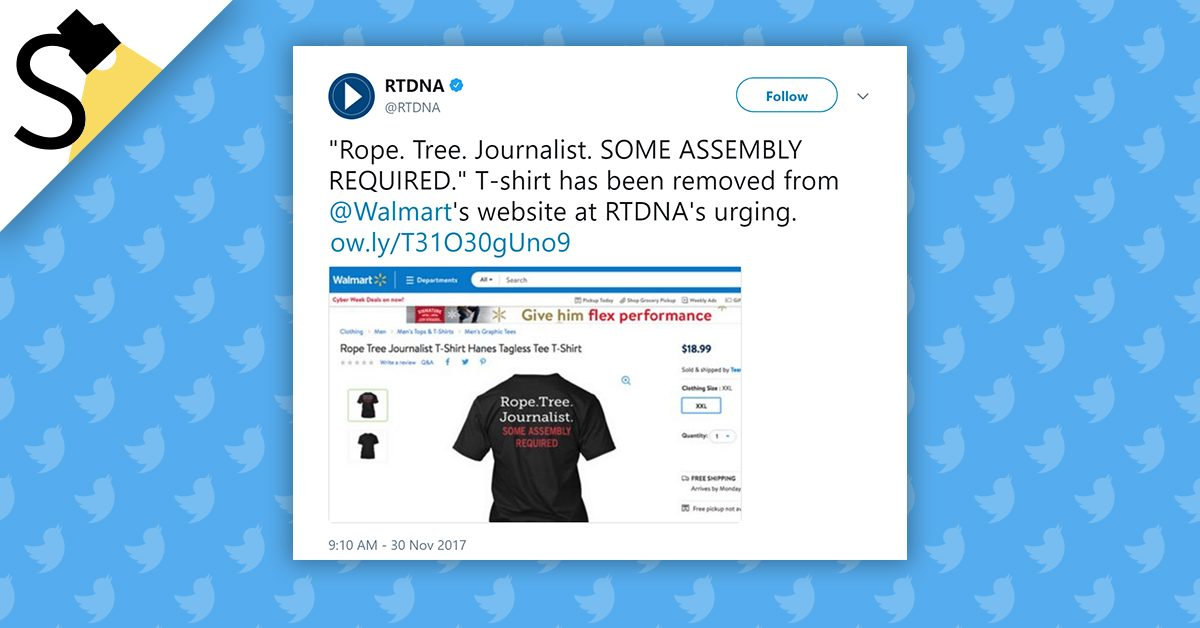 FACT CHECK  Did Walmart Sell Shirts That Allude to Hanging Journalists  63671304e