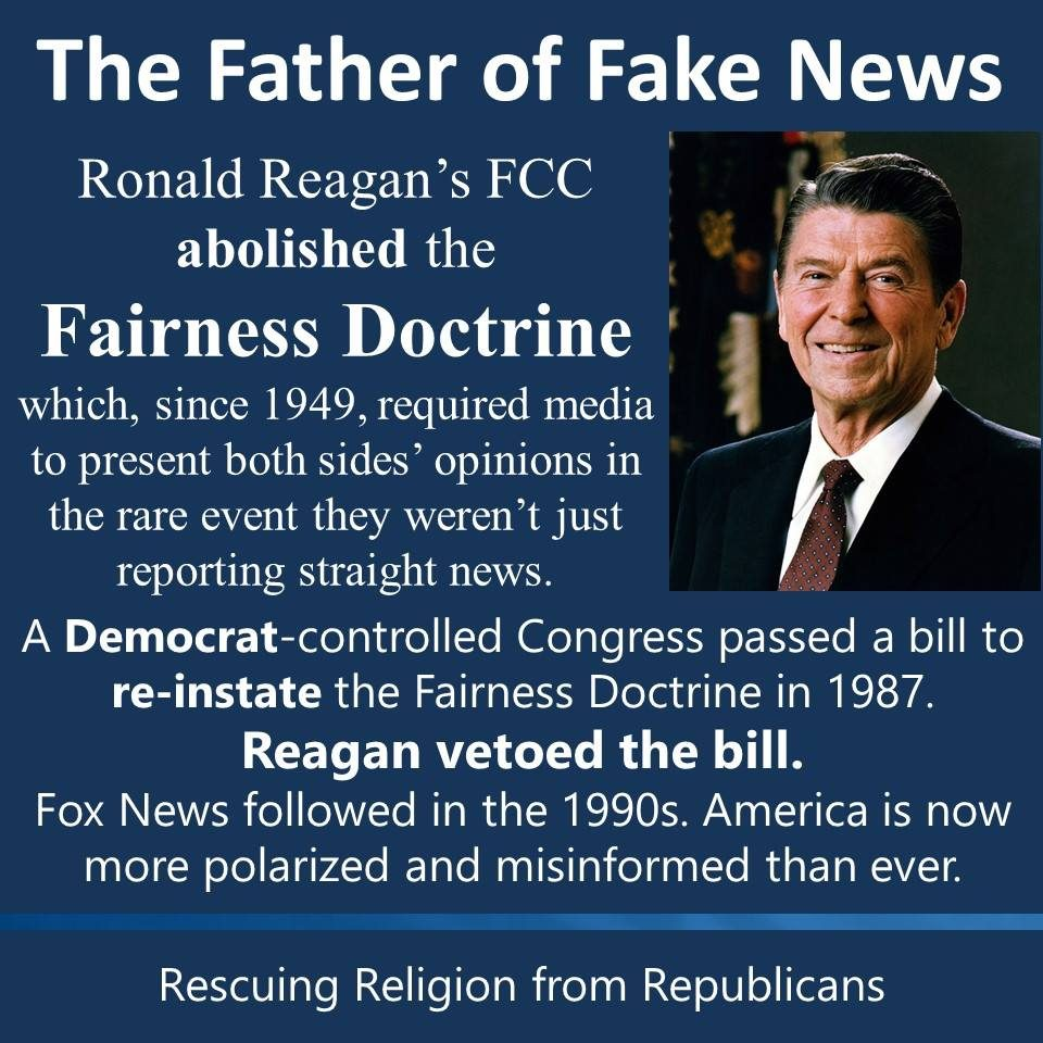 FACT CHECK: Did Ronald Reagan Pave the Way for Fox News By